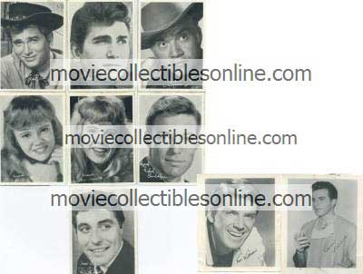 Movie Star Collector Cards & Photos